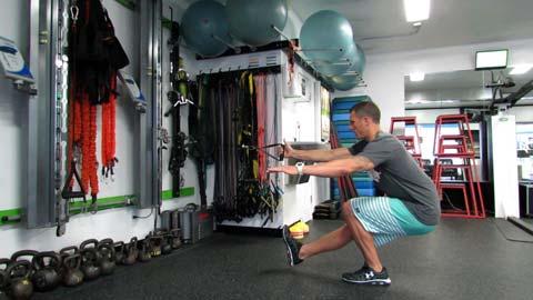 squat une jambe musculation maison