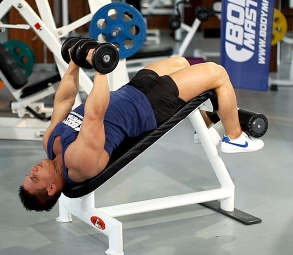 développé couché décliné banc musculation